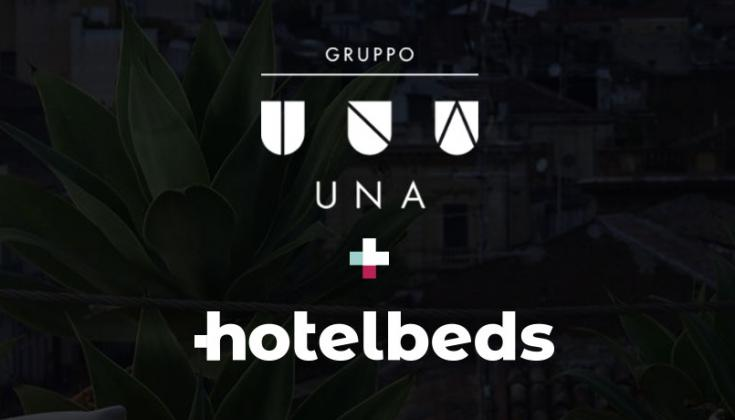 Gruppo UNA Hotels and hotelbeds in partnership
